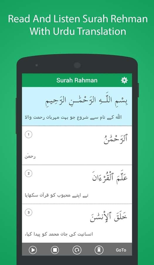 Surah ar Rehman with Urdu Trnslation
