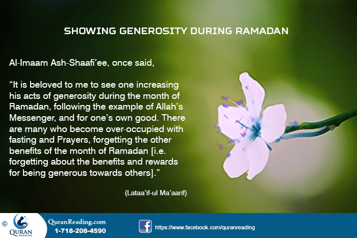Generosity in Fasting Month