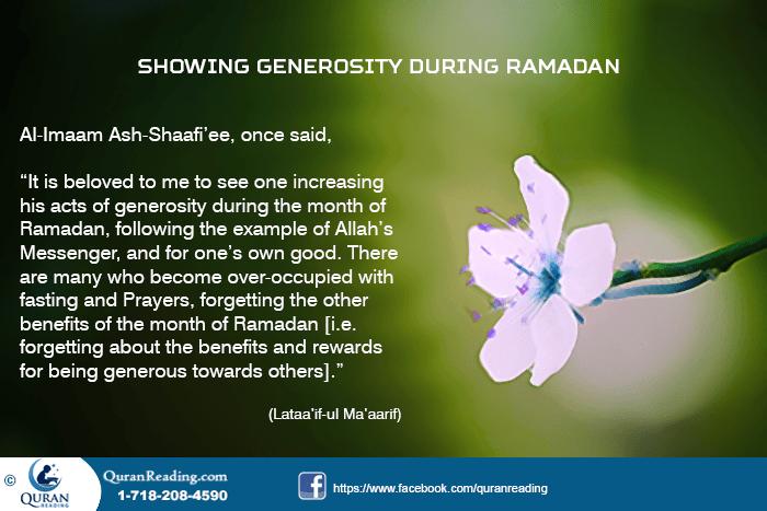 Generosity in Fasting Month
