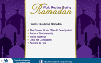 working and excercise in Ramadan