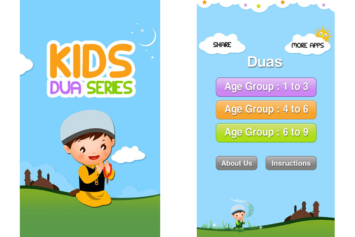 Islamic Duas for Kidz smartphone app