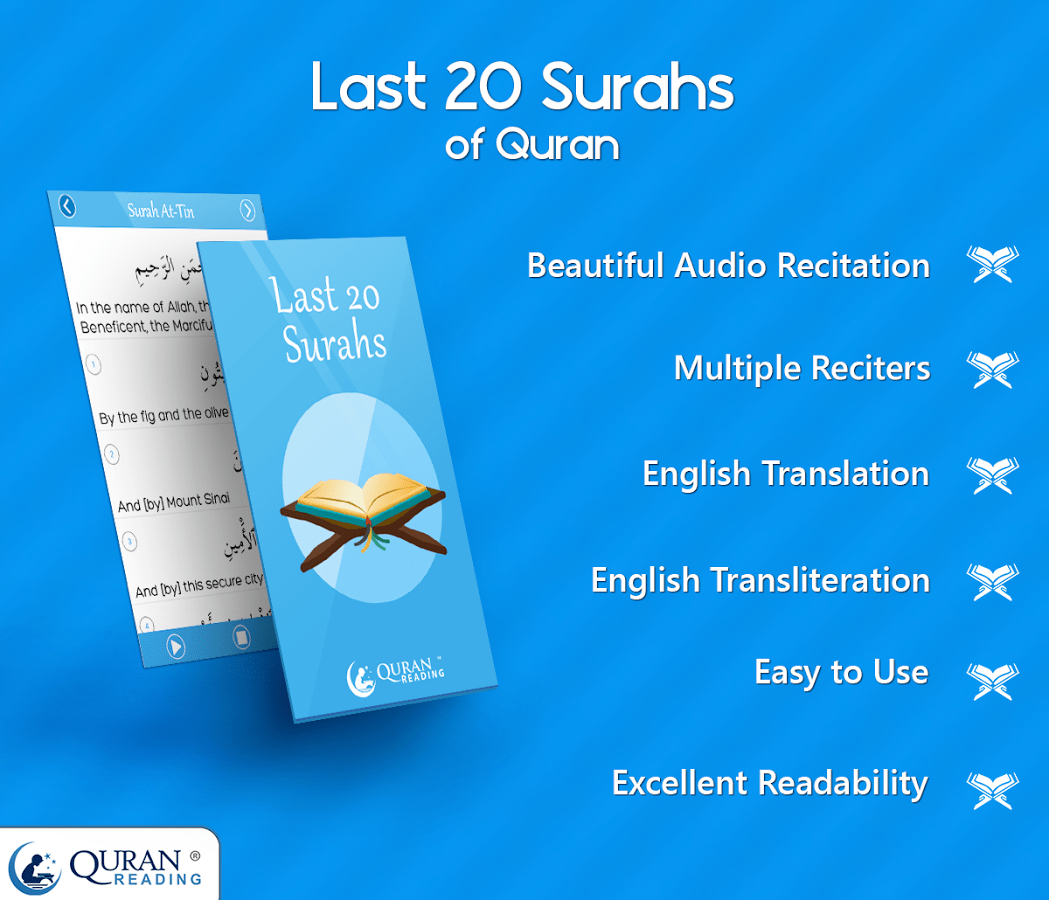 Last 20 Surahs App – Surahs with Heart Touching Recitations
