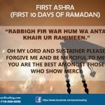 First Ten Days of Ramadan