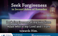 Seeking Forgiveness in Second Ashra of Ramadan