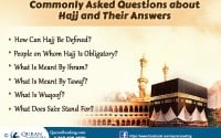 Frequently Asked Questions about Hajj