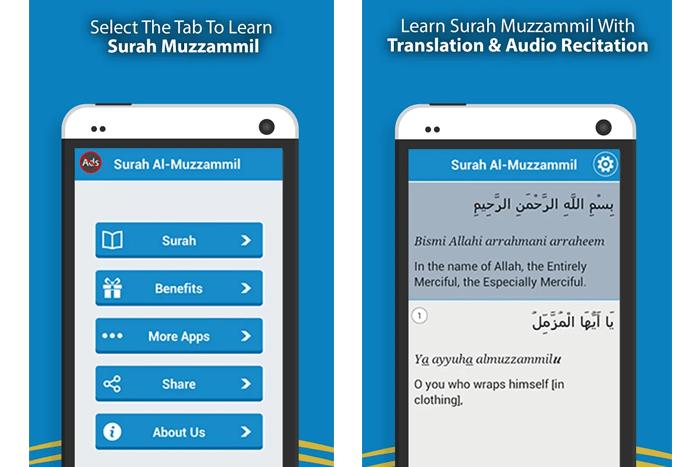 Muzammil app features