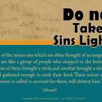 avoid of taking sins lightly