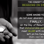 concept of begging