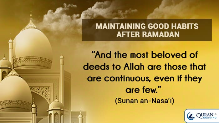 good habits after ramadan