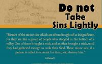 avoid of taking sins lightly